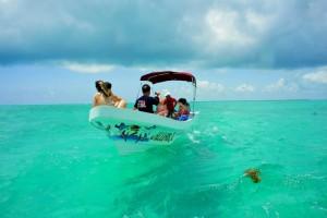 visite en bateau de la biosphère de sian ka an